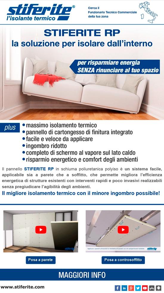 Stiferite spa a socio unico azienda produttrice di - Isolare il soffitto dall interno ...