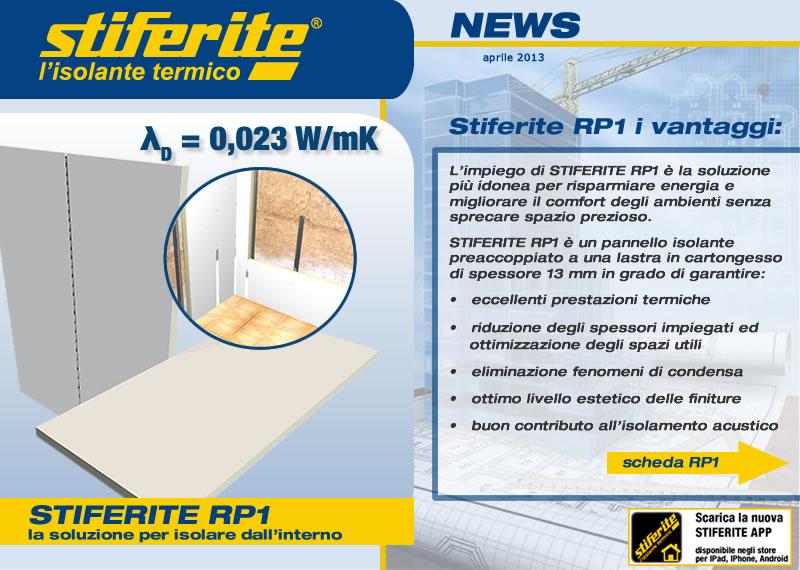 Stiferite rp1 la soluzione per isolare dall 39 interno - Isolare il tetto dall interno ...